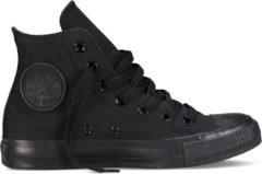 Zwarte Converse Chuck Taylor All Star Sneakers Hoog Unisex - Black Monochrome - Maat 38