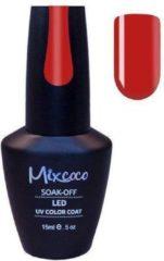 Rode Gellak Mixcoco # 061 Piquant Red - Gel nagellak