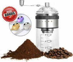 Transparante Qualisce Handmatige Koffiemolen - Bonenmaler - Coffee Grinder - Koffiemaler Hoge Capaciteit - Koffiemachine Met Bonen - Koffiebonen Maler - Koffiezetapparaat Bonen