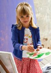 Oilily Blauw vestje met lurex voor meisjes