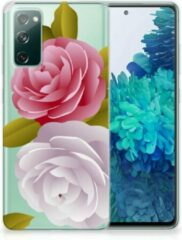 Roze Silicone Back Case Samsung Galaxy S20 FE GSM Hoesje Roses