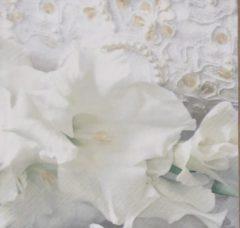 Witte Ti- Flair Servetten Mariage Blanc 33 x 33 cm