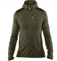 Groene Fjällräven Fjallraven Keb Fleece Outdoorvest Heren - Laurel Green-Deep Forest - Maat S
