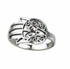 Etnox Fatimah's Hand Zilveren Ring maat 58