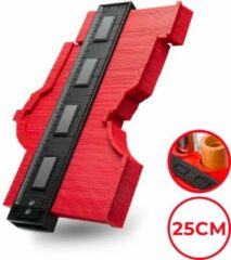 Koopvrienden Aftekenhulp - 25CM - Profielmeter Plinten - Profielaftaster - Contourmallen - Rood