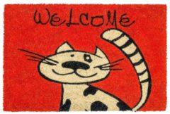 Schmutzfangmatte Katze Astra Rot