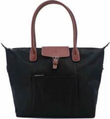 Zwarte Hexagona Shopper Black/marron L