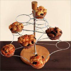 Zilveren Relaxdays Muffin Etagère voor 12 Stuks Muffin