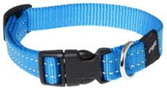 Rogz for Dogs Snake Hondenhalsband Verstelbaar Turquoise 40 x 1,6 cm