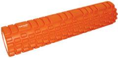Tunturi Yoga Grid Foam Roller - Foam roller the grid - Foamroller - Fitness Roller - Triggerpoint roller - Foam massage roller - 61cm - Oranje