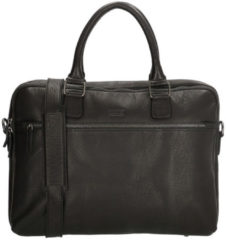 Zwarte Old West Waco laptoptas 15.6 inch black