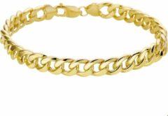 Goudkleurige The Jewelry Collection For Men Zilgold Armband Geslepen Gourmet - Geelgoud Met Zilveren Kern
