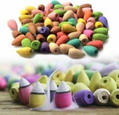 Favorite Things 200 wierook kegels - backflow cones - Mix aan geuren; roos, jasmijn, sandalwood, appelbloesem