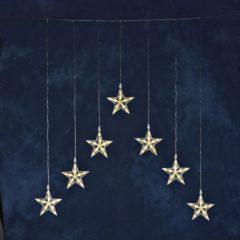 Lichtgordijn sterren Buiten 24 V Energielabel: LED 35 LED Warm-wit (b x h) 75 cm x 116 cm Konstsmide