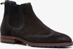Scapino Van Beers suède chelsea boots zwart