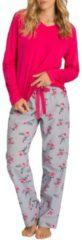 Pyjama mit V-Neck Seidensticker bright rose