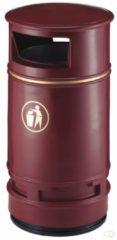 Rode HygieneShopBasics Copperfield afvalbak 90 ltr