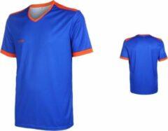 VSK Fly Voetbalshirt Blanco Blauw-Oranje-S