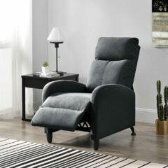 En.casa Verstelbare relaxfauteuil 102x60x92 cm stof donkergrijs