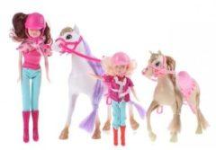 Bruine Toi-Toys Toi Toys speelset Kailey's paard en pony 4 delig wit/bruin/roze
