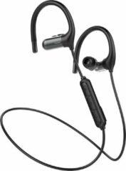 Zwarte Tuddrom SP500 Sport - Draadloze In-Ear Oordopjes - Bluetooth 5.0 - IPX5 Waterdicht - 8 Uur Autonomie - Ergonomische Oorhaakjes - 2 Jaar Garantie