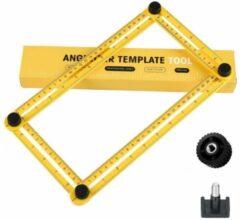 RRJ Angle-izer Meetinstrument en multi-hoeklineaal - Kunststof - Geel - Duimstok - Meetlat