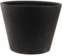 DBT Blpempot-Plantenbak Conische pot composiet Bloempot XXLl Zwart Winterhard 56 x 43