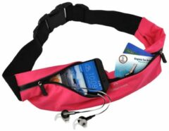 Roze #DoYourFitness - Loopriem - »FunRunner« - heuptas / ritszak voor hardlopen ,elastisch, waterdicht - mobiele telefoon tot ca. 5,5 inch - pink
