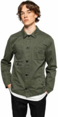 Donkergroene Revolution 7664 Shirt Jacket heren zomerjas