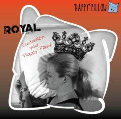 Rode Happy Pillow - Royal kussensloop met print inclusief textielstiften (Het nieuwe gips, ziekenhuiscadeau)