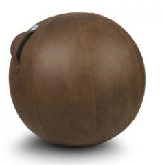 Zitbal Veel - Cognac - polyester met lederlook - Ø60-65 - Vluv