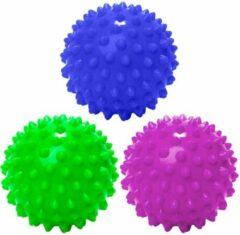 #DoYourFitness - 3 delige set massagebal - »Nica« - Lacrosse Bal / Fasciaball voor effectieve zelfmassage van triggerpoints - diameter 6cm - marineblauw/groen/lila