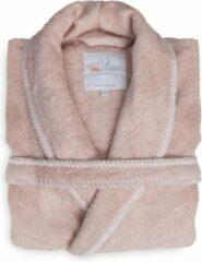 Volwassenen Luxe Dames Bamboe Badjas Roze | M | Comfortabel En Hoogwaardig | Stijlvolle Stiksel Randen
