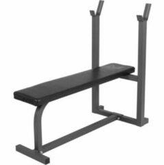 Grijze Gyronetics Vlakke Halterbank - Fitnessbank - Belastbaar tot 200 kg - Zwart