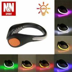 N&N Sport LED Schoenclips Verlichting 100% Waterdicht - Oranje