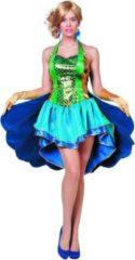 Blauwe Wilbers Pauw Kostuum | Pronkende Dames Pauw | Vrouw | Maat 36 | Carnaval kostuum | Verkleedkleding