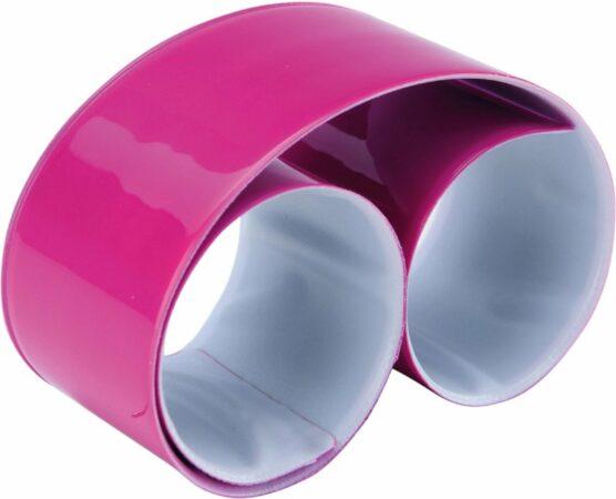 Afbeelding van Ki-Mood KI0334 KiMood Reflecterende snap/slap warp armband 32 x 3cm – Fuchsia