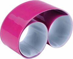 Ki-Mood KI0334 KiMood Reflecterende snap/slap warp armband 32 x 3cm – Fuchsia