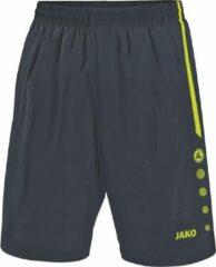 Antraciet-grijze Jako - Shorts Turin - antraciet/lime - Maat XL