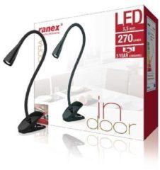 LED Schreibtisch Cliplamp CORA 6 führte 3.5W schwarz - Ranex