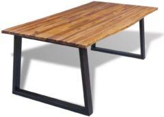 Bruine VidaXL Eettafel - 200x90 cm - massief acaciahout