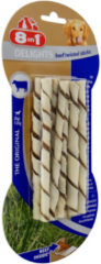 8in1 Delights Twisted Sticks - Hondensnacks - Rundvlees 10x5.5 g 10 stuks Xsmall - Hondenvoer