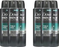 Dove Men+Care Dove Men + Care Deospray Talc Feel - Voordeelverpakking 6 x 150 ml