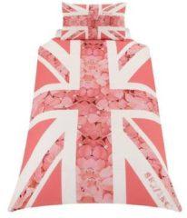 Roze Union Jack - Dekbedovertrek - Eenpersoons - 135 x 200 cm - Rose