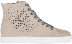Beige Hogan Rebel Scarpe sneakers alte donna in camoscio r182