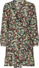 Zwarte ONLY ONLCARLY LS WRAP SHORT DRESS NOOS WVN Dames Jurk - Maat 42