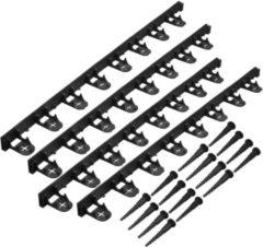 Nature Grasranden Incl.16 Grondpennen - Klim-En Geleide Artikel - 4.5x100 cm Zwart 4 stuks