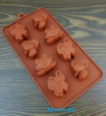 Bruine EIZOOKSHOP Vorm Kikker - Vlinder - Bij - Fondant - Chocolade - Klei