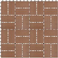 VidaXL Terrastegels 30x30 cm 1 m² HKC lichtbruin 11 st