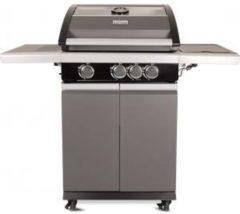 """Patton Patio Pro Chef 3+ -burner - Gasbarbecue - 3 branders - incl. zijbrander - incl. glazen vensterkap - """"Frozen Grey"""" - Mat grijs"""